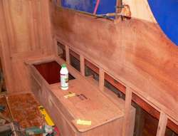 New bench and brackets on the starboard side