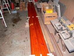 The new planks for the deckhouse roof